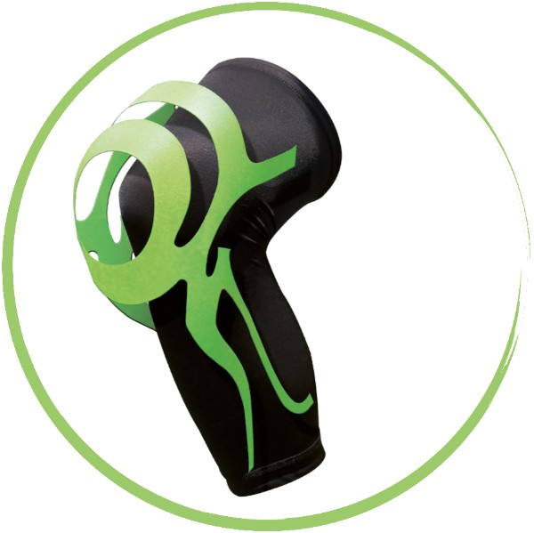 Ginocchiera con taping integrato Orione Power Band Taping